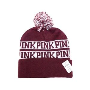 New Beanies Hats Victoria's Secret Pink One Size